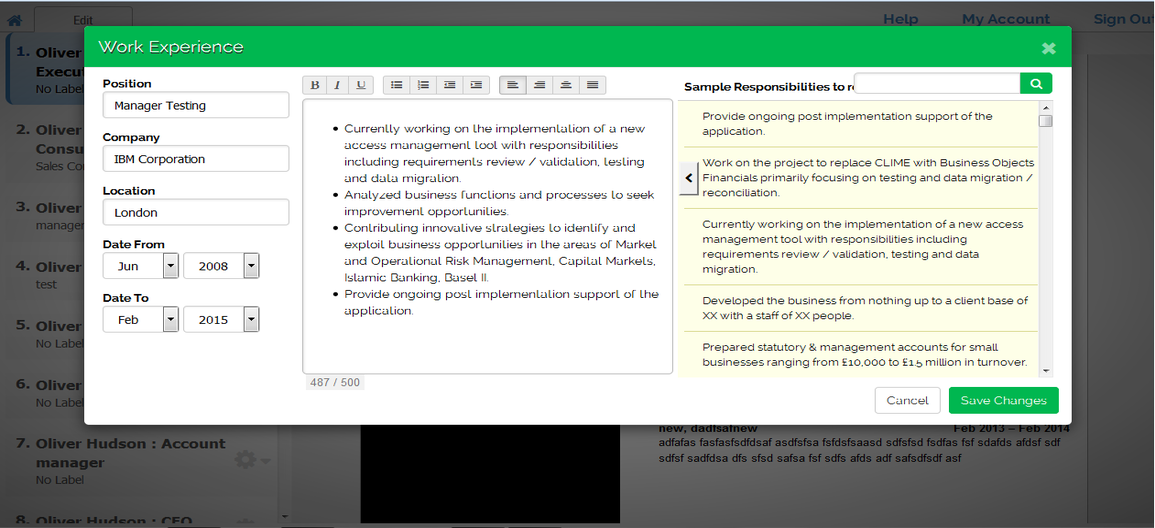 resume builder - Pro Resume Builder